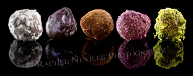 Xocolatti Dusted Chocolates shot by Rachel Neville Photography