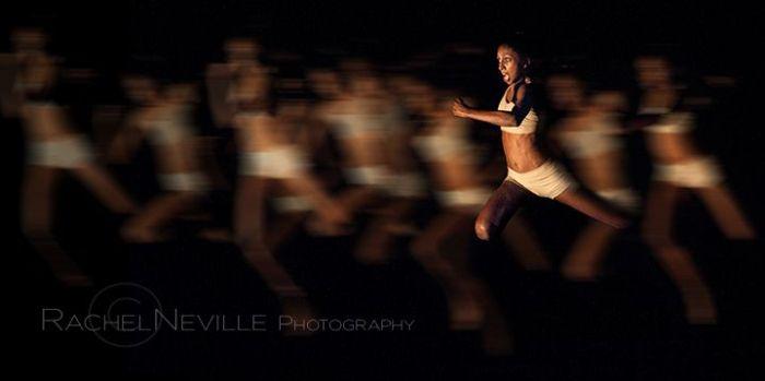 nyc dance photographer rachel neville photo live performance woman running