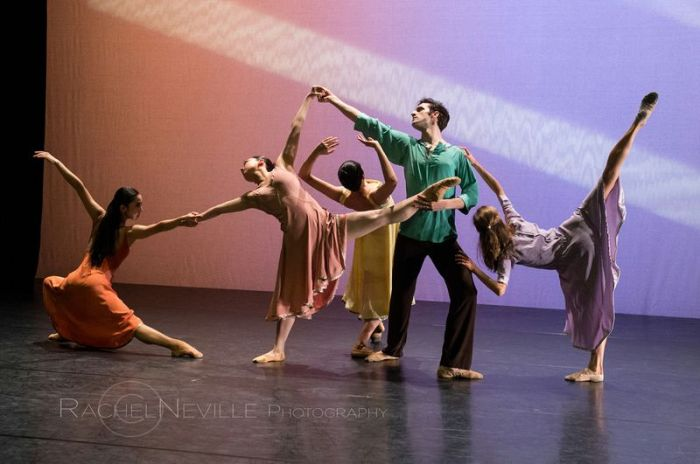 pastel colors modern dance stage performance photo rachel neville