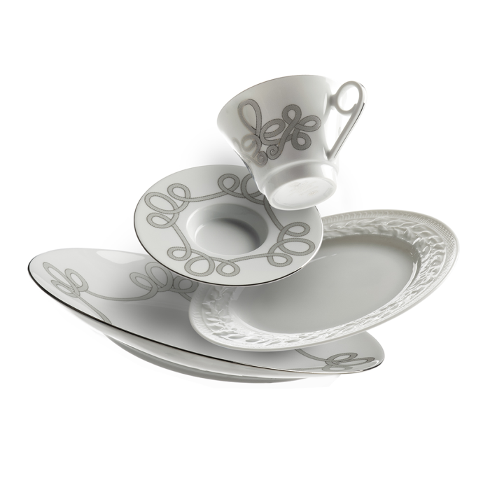 white china grey scroll pattern rachel neville for gracious home retail photography high end