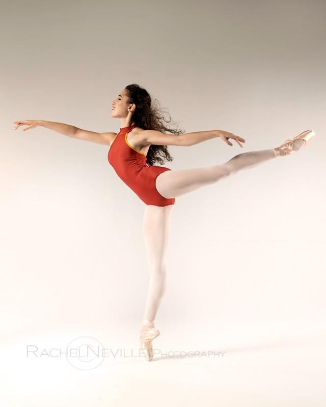 orange leotard arabesque nyc dance photographer audition photos