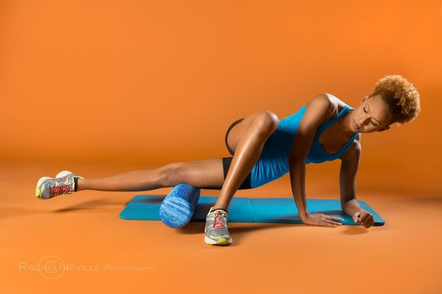 fitness orange background rachel neville