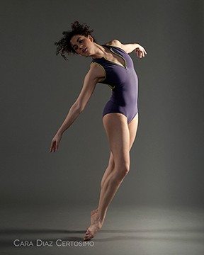 dance movement yumiko purple leotard green zipper