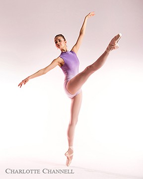 two tone purple leotard ballet