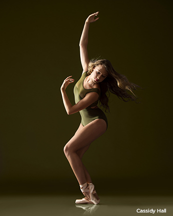 green leotard hair down audition photos ballet