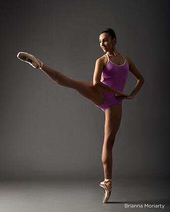 yumiko purple leotard contrast stripe dance audition photos rachel neville