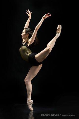 ballet dancer black lace color block leotard photo Rachel Neville dance photographer NYC
