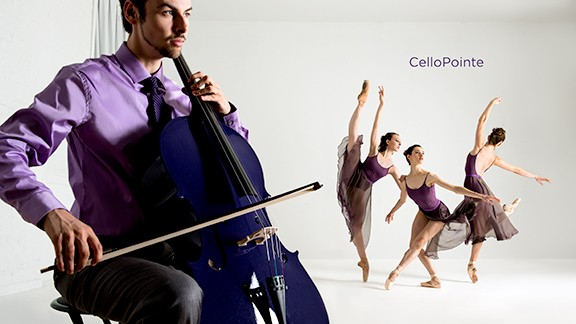 performing arts photographer Rachel Neville purple cello
