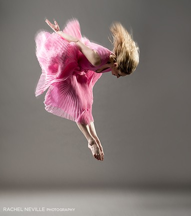 pink gray dance photo rachel neville