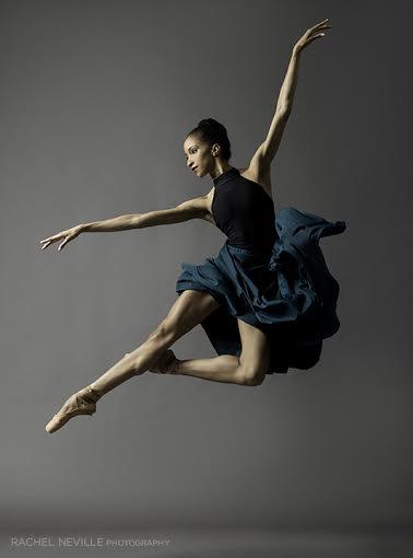 dancer jumping green skirt Courtney Lavine ABT photo shoot Rachel Neville dance photographer