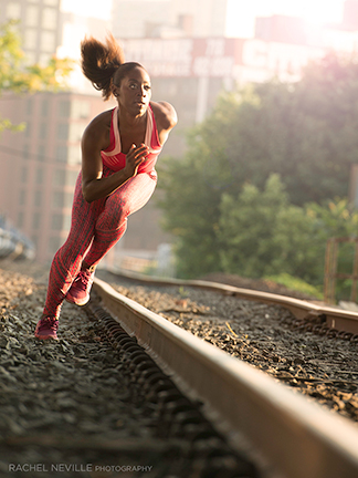 running by tracks Epiphany Elease photo Rachel Neville