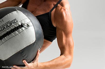 fitness medicine ball photo Rachel Neville