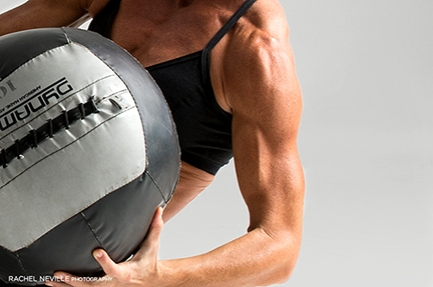 fitness medicine ball photo Rachel Neville