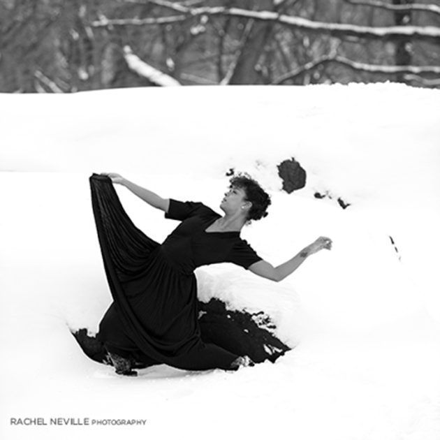central park black white snow photo
