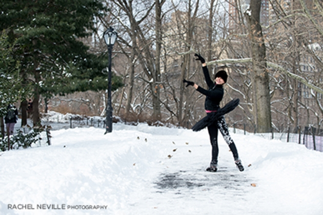 snow day photos central park nyc dance