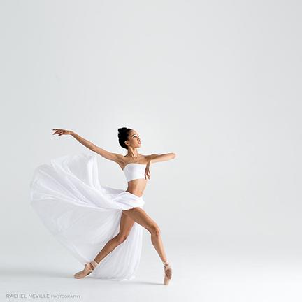 white gossamer dance photo props