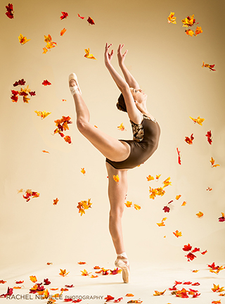 props for dance photo leaves