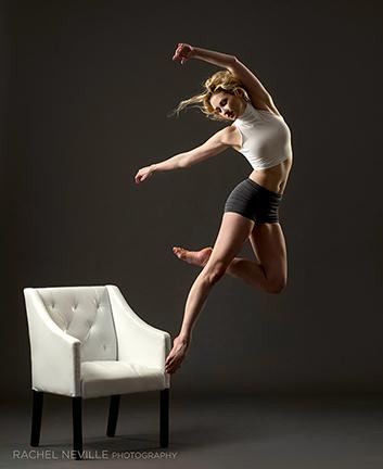 Sarah Brower white chair dance photo