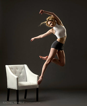 Sarah Brower white chair dance photo
