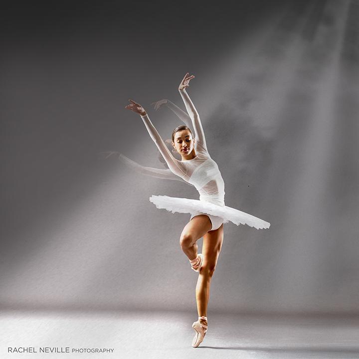 long sleeve dance dress full tutu white