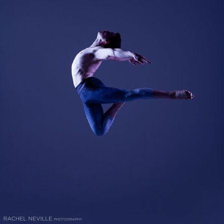 dancer male blue background