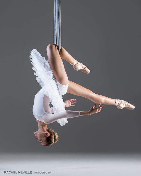 aerial dance audition photo white tutu