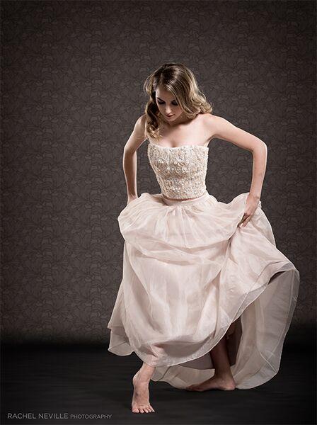 white wedding dress dancer