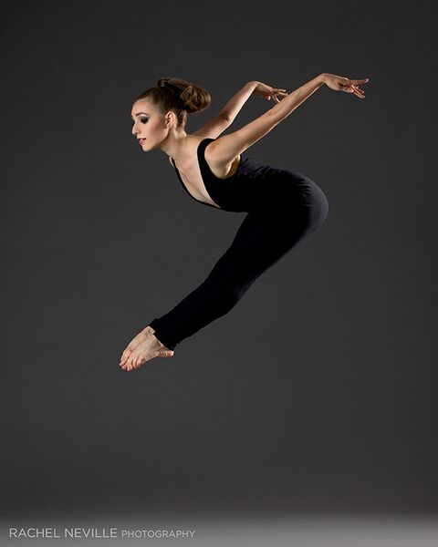 black unitard vneck dance photo rachel neville