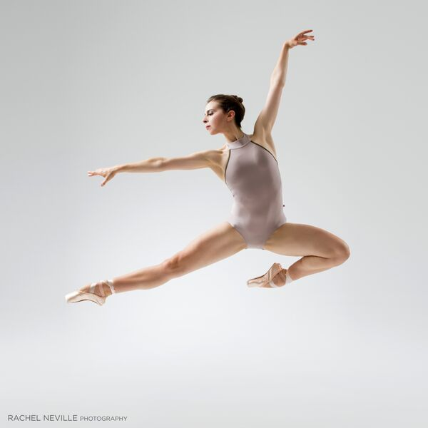 gray leotard high cut modern leotard ballet pointe shoes photo rachel neville nyc