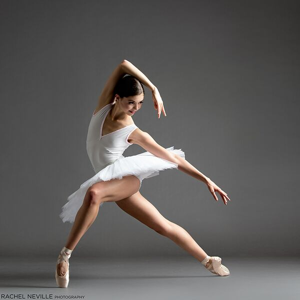 v neck white tutu bare leg pointe shoe rachel neville