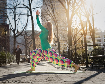 buddha pants bright color fitness photo rachel neville