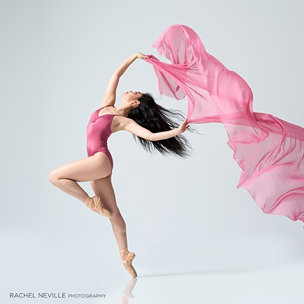 cherry blossom pink dancer photographer Rachel Neville NYC