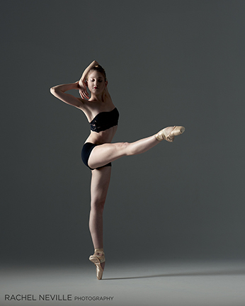 two piece black dance ware ballet photo rachel neville