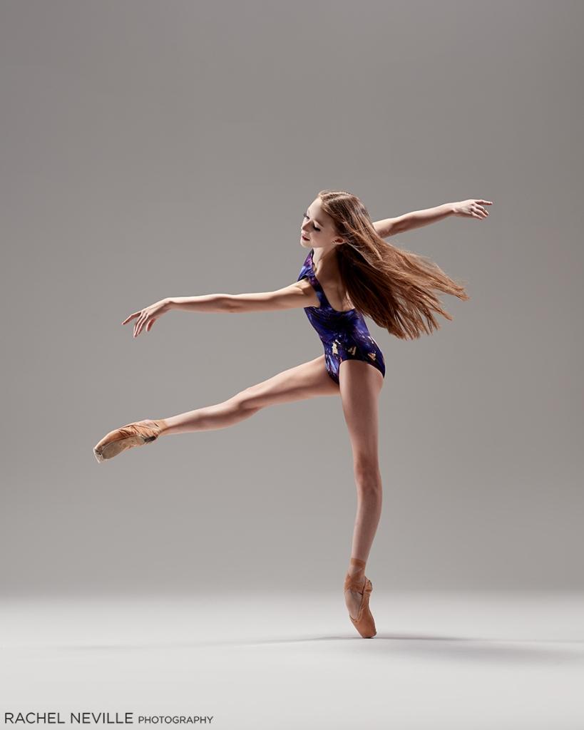 ballet dancer photo long hair down no tights